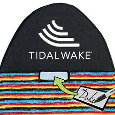 "Tidal Wake Tag-It Surf & Wake Board Sock Round Nose 60"" w/Name Tag Multi Color"