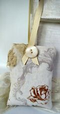 Shabby Chic Organic Lavender Pillow Sachet Vintage Style French w/Buttons, Lace