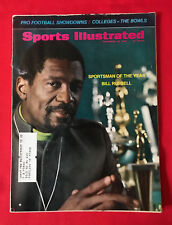 VINTAGE SPORTS ILLUSTRATED DEC 23RD 1968 BILL RUSSEL SPORTSMAN OF THE YEAR