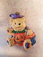 "TRICK OR TREAT HALLOWEEN TEDDY BEAR FIGURE 3-1/4"" T"