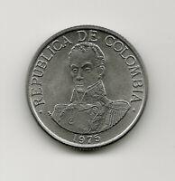 World Coins - Colombia 1 Peso 1975 Coin KM# 258.1 UNC BU