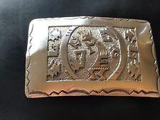 Sterling Silver Native American Kokopelli Belt  Buckle