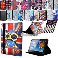 """For Various 10"""" Acer Iconia Tab Tablet - Smart Stand Leather Cover Case + Stylus"""