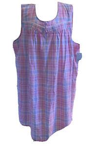 Croft & Barrow Women's Pintuck Yoke Sleeveless Nightgown Plus Size 4X