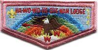 MERGED HA-WO-WO-HE-QUE-NAH OA LODGE 544 Teton Peaks ID 407 S-8 BROTHERHOOD FLAP