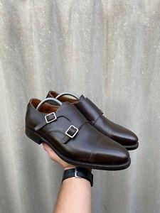 Meermin Mallorca Monk strap derby leather shoes size UK8