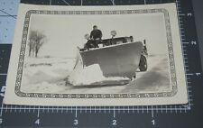 Lafayette Indiana IN EARLY Unusual SNOW PLOW Shovel TRUCK Vintage Snapshot PHOTO