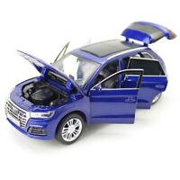 1:32 Audi Q5 SUV Model Car Metal Diecast Gift Toy Vehicle Light Sound Kids Blue