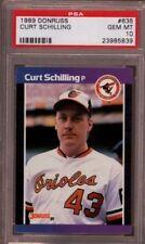 Curt Schilling Red Sox Phillies 1989 Donruss #635 Rookie Card rC PSA 10 Gem QTY