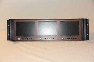 "19"" Triple 5.6"" Rack Mount LCD Monitor (3U) Rack-LCD-56-3"