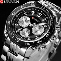 CURREN Herren Luxus Armbanduhr Marke Quartz Stainless Steel Military 8077 D R7W7