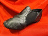 CAPEZIO ... Leather Split Sole Slip On Dance Shoes ... Black ... Child Size 7 W