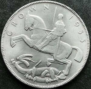 Base Metal Facsimile Of A 1935 George V 'Rocking Horse' Crown.  Good Gap Filler.