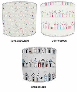 Lampshades Ideal To Match Nautical Beach Huts Duvets & Beach Huts Wallpaper