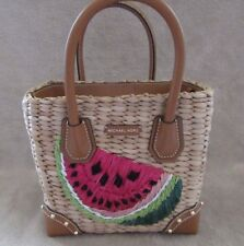 7181c6424a13 Michael Kors Malibu Watermelon Medium Woven Messenger Tote 30S8GMBM7W