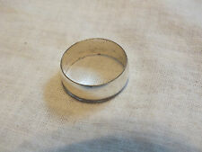 Beautiful Silver Tone Cocktail Ring Band Size 9 Shiny NICE