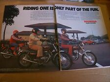 Original 1980 Honda Motorcycle 2-Page Magazine Ad - ... Part Of The Fun