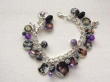 PRINCE Memorial new purple black Photo charm bracelet. special memory  gift