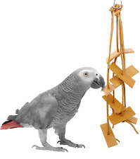 1003 CLIFF LEATHER BIRD TOY parrot cage toys cages cockatiel conure amazon