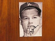 GREG  GOOSSEN  Los  Angeles  Dodgers Signed  4x6  Black & White Photo(Died-2011)