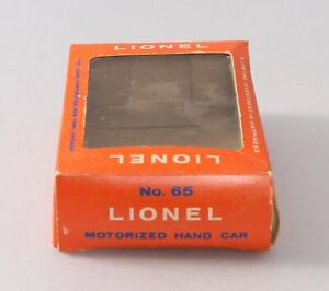 Lionel 65 Vintage O Motorized Hand Car Box Only/Box