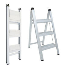INDALEX Aluminium Slimline Ladder 3 Steps 0.80m