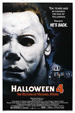 "HALLOWEEN 4 The Return of Michael Myers Horror Silk Movie Poster New 24""x36"""