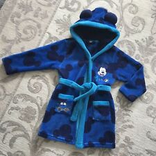 🌟 BOYS STUNNING DISNEY MICKEY MOUSE DRESSING GOWN 2-3 YEARS 🌟