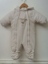 Baby Snowsuit 6-9 months ivory polar bear design Ladybird brand boys/girls