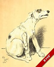 SCRATCH AN ITCH PET PUPPY DOG ANIMAL ART CECIL ALDIN PAINTING PRINT REAL CANVAS