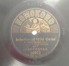 "Homokord 10"" 78rpm Pressed in Berlin Selection of Wild Geese"