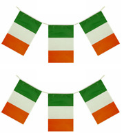12ft St Patricks Day Flag Bunting Ireland Irish Party Decoration Rugby QR36