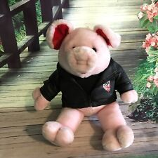 Dan Dee Pink Pig Plush Stuffed Animal Motor Cycle Jacket Hog Wild For You 22""