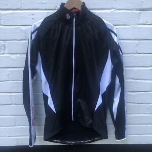 Endura FS260-Pro Thermal Black White Cycling Jacket Size Large reflective