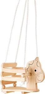 Baby-Schaukel Pferd aus Holz Kinderschaukel Schaukelsitz für Babys Spielzeug