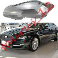 Left Side Transparent Headlight Cover + Glue Replace For Jaguar XJ 2010-2019-J