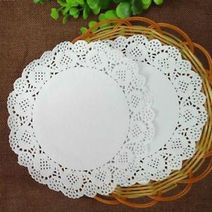 40 pcs Paper Party Doilies Doily Lace Doyleys Catering Wedding Round tea Food UK