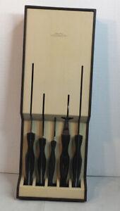 Cutco 6pc.Knife Set 1729 1721 1759 1726 1724 Plus 1742 Wall Drawer Holder EUC