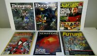 COMIC AND SCI FI MAGAZINES LO OF 6 / DUNGEON,NEWSTIME,STAR TREK,FUTURE,MARVEL