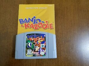 Banjo-Kazooie Nintendo 64 and Instruction Booklet