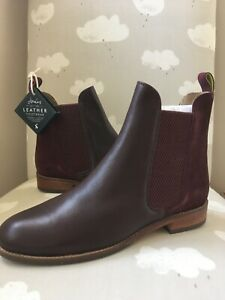 Joules Westbourne Premium Chelsea Leather Women's Boots - Ox Blood