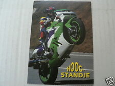 KAWASAKI RACING ZX HOOG STANDJE POSTCARD MOTO73