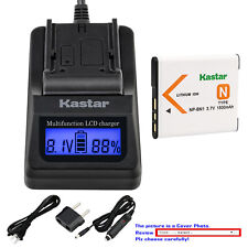 Kastar Battery LCD Fast Charger for Sony NP-BN1 NPBN1 & Sony Cyber-shot DSC-W830