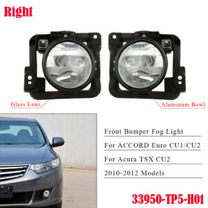 Right Front Bumper Fog Light For Honda Acura TSX 2009-2010 Clear Driving Lamp