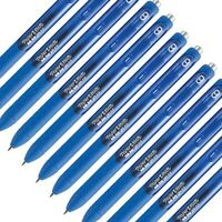 10 x PaperMate InJoy 0.5mm Pure Blue Ink Markers Pens Office Arts Budget Quality