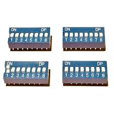 4x  Dip Switches  8 Position Blue