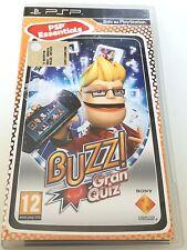 BUZZ! GRAN QUIZ PSP SONY PLAYSTATION GIOCO NUOVO NON SIGILLATO ITALIANO!!