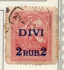 Latvia 1921 Early Issue Fine Used 2R. Surcharged 182321