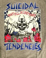 SUICIDAL TENDENCIES cd lgo WON'T FALL IN LOVE TODAY Official SHIRT XL still cyco