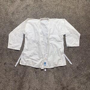 "proforce kids size 1 white karate shirt long sleeve ""ultra"" lightweight"""